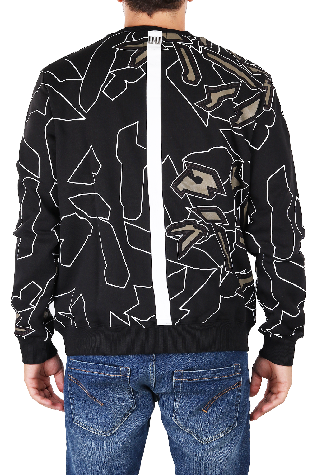 SWEATSHIRT WITH MULTI-COLOR PRINT LES HOMMES | Sweatshirts | URF850PUF8579135