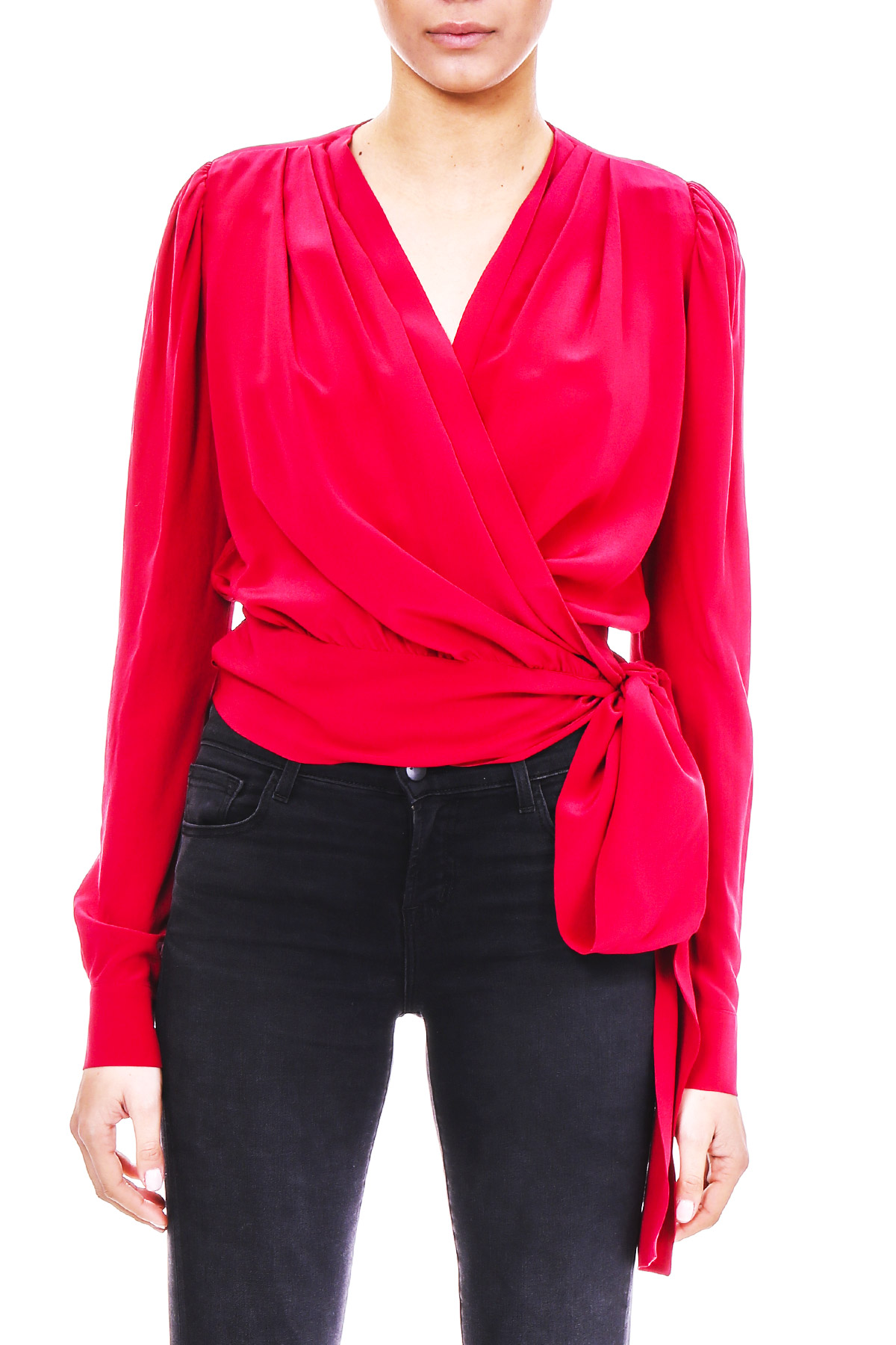 e2c711dc1ae90 BLOUSE IN SILK CREPE - PINKO - Carbone Boutique