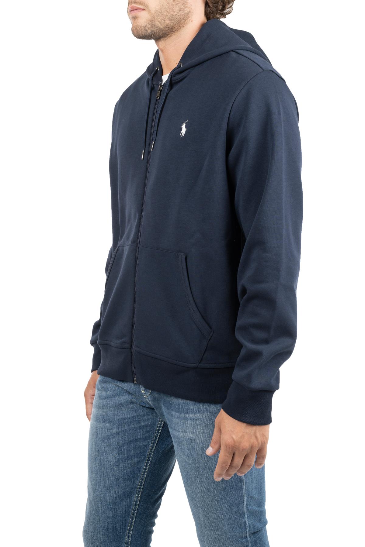BLUE COTTON SWEATSHIRT WITH LOGO EMBROIDERY POLO RALPH LAUREN | Sweatshirts | 710652313008