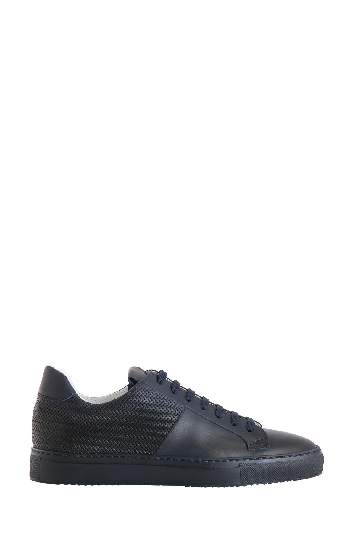 BLU SNEAKER WITH WOVEN LEATHER PANELS DUCA DI WELLS   Sneakers   NU2448ERICUF043BB00BLU