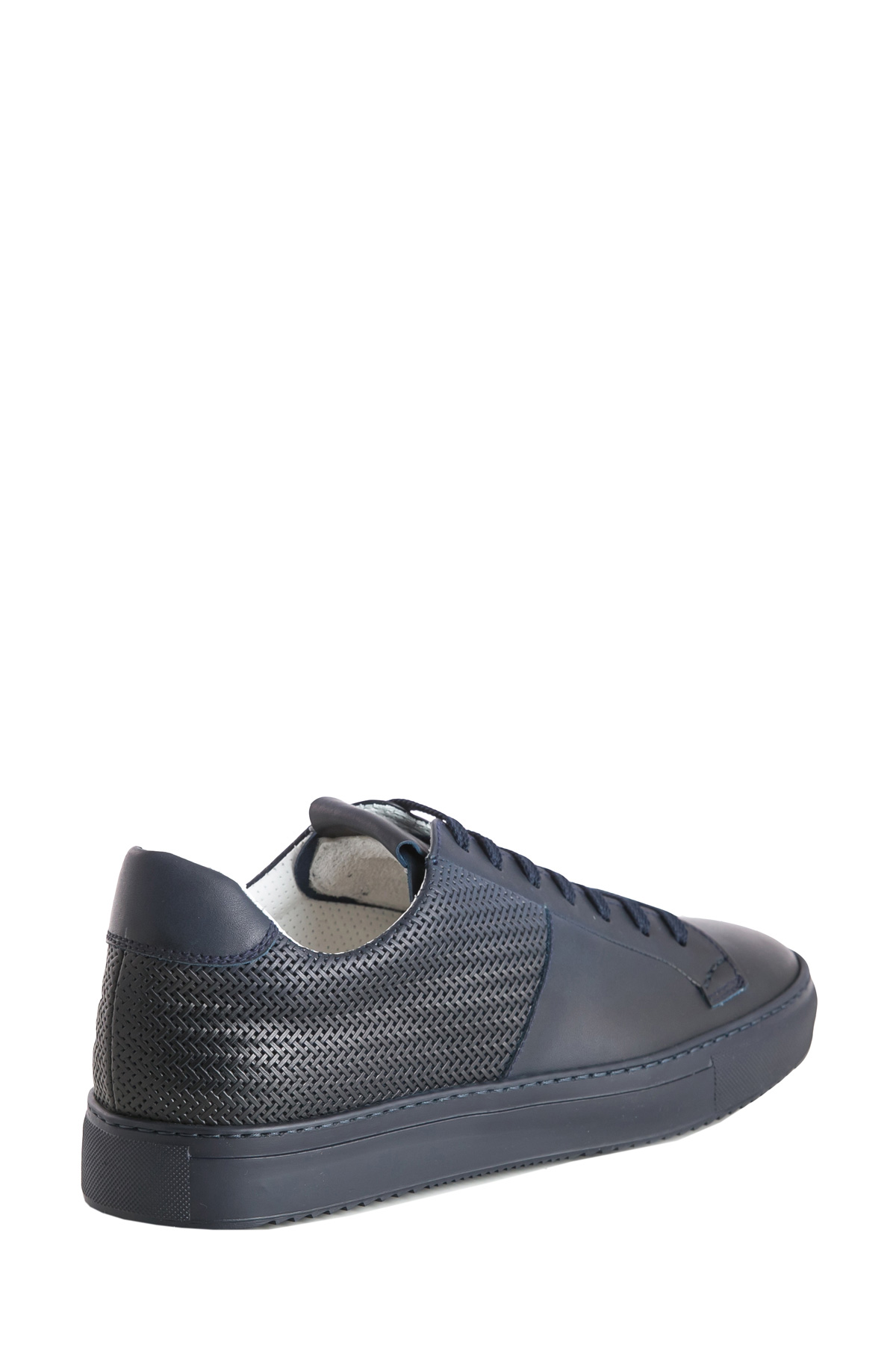 BLU SNEAKER WITH WOVEN LEATHER PANELS DUCA DI WELLS | Sneakers | NU2448ERICUF043BB00BLU