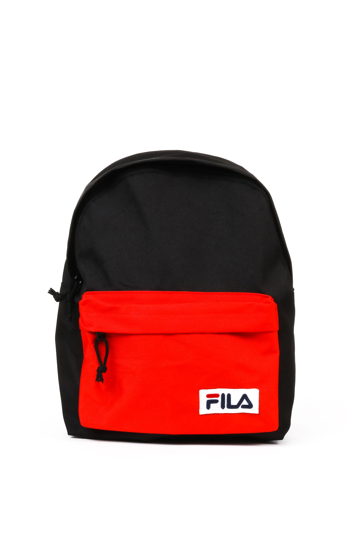 BLACK/RED BICOLOR BACKPACK WITH LOGO FILA   Backpacks   685043NERO/ROSSO