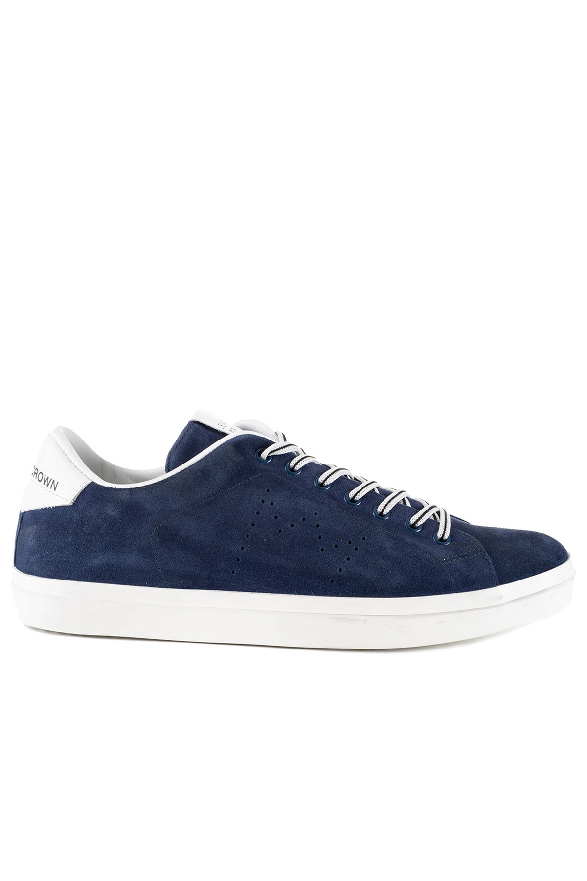 BLUE SNEAKERS LC06 IN SUEDE LEATHER CROWN | Sneakers | MLC06325