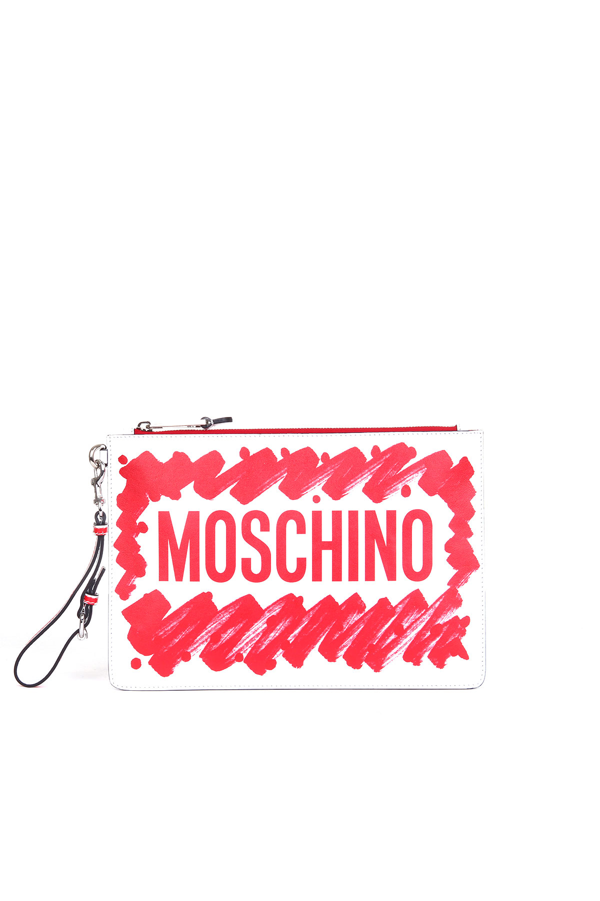 RED BRUSHSTROKE CLUTCH MOSCHINO | Clutches | A843480012115
