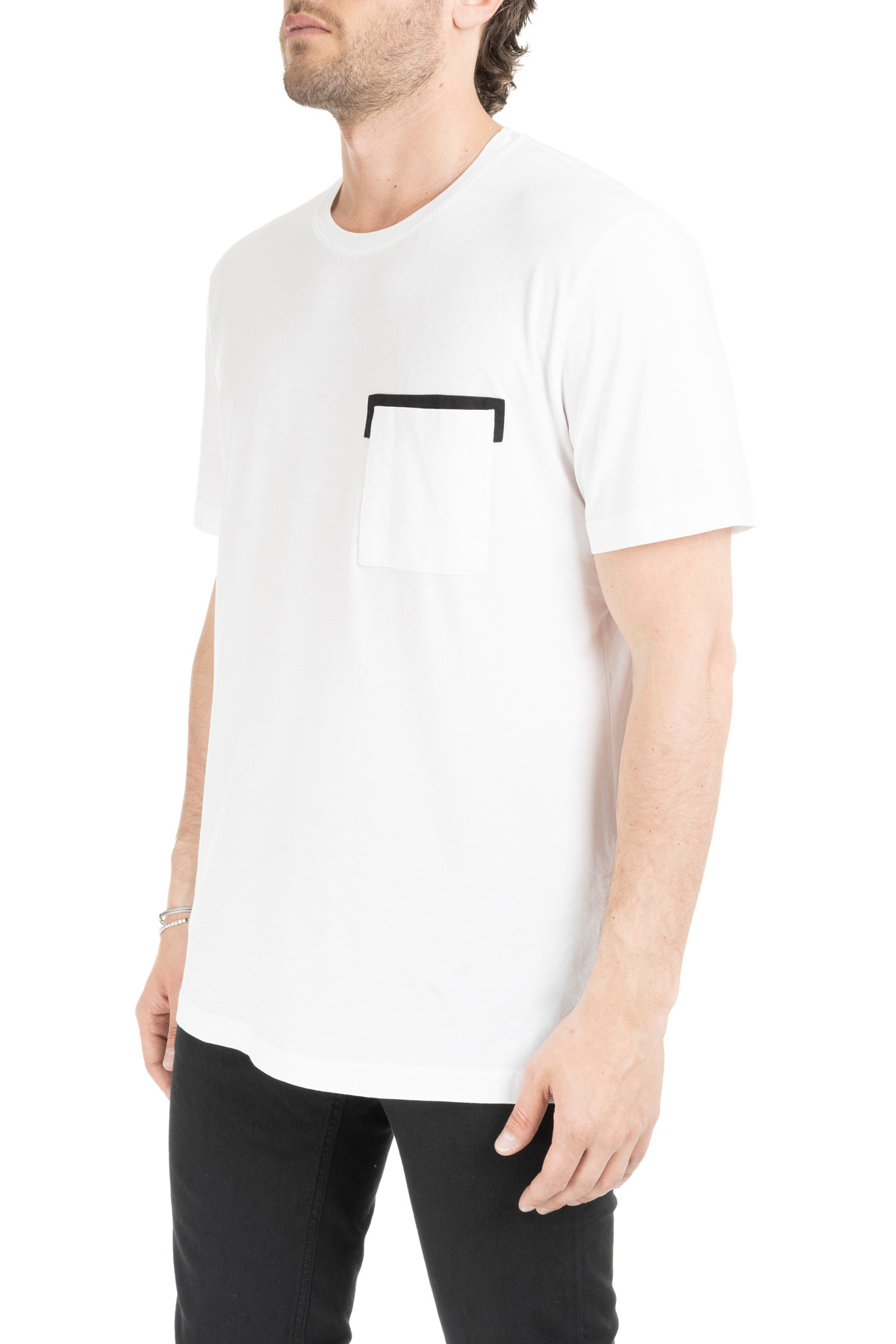 f174d5989f WHITE T-SHIRT WITH CONTRAST POCKET