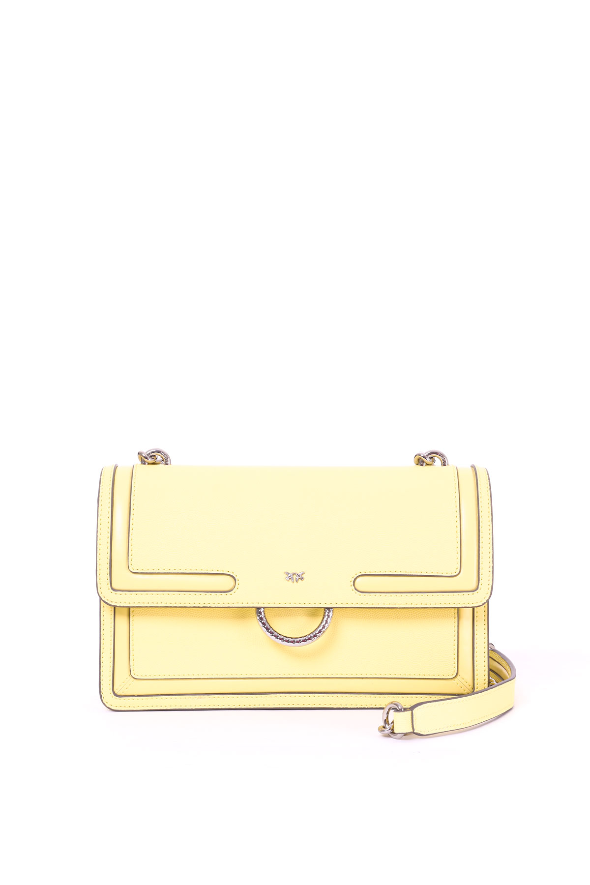 e558d7d3eca YELLOW LOVE BAG NEW IN CAVIAR LEATHER WITH INLAYS PINKO   Bags    LOVENEW1P21A6Y5F4H01
