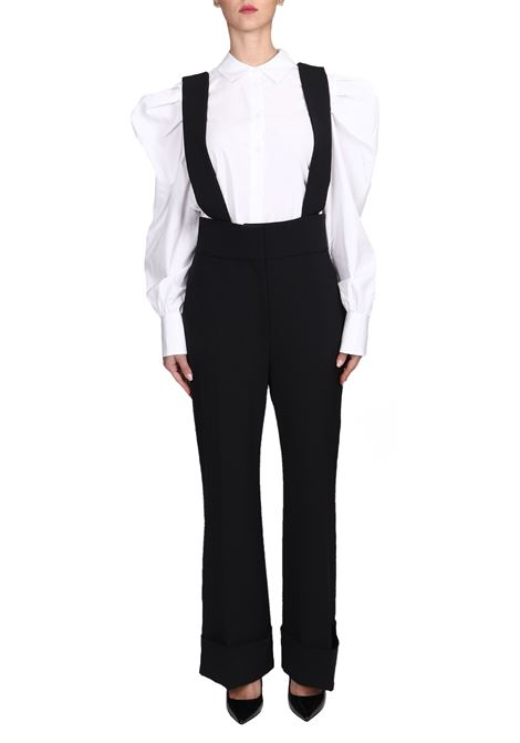 BLACK SALOPETTE TROUSERS WITH BRACES ALBERTA FERRETTI | Pants | 03015127555