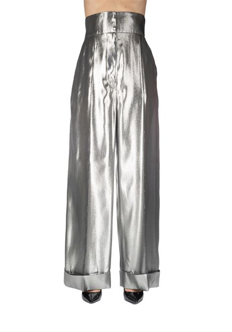WIDE TROUSER SILVER PANTS ALBERTA FERRETTI | Pants | 03135134601