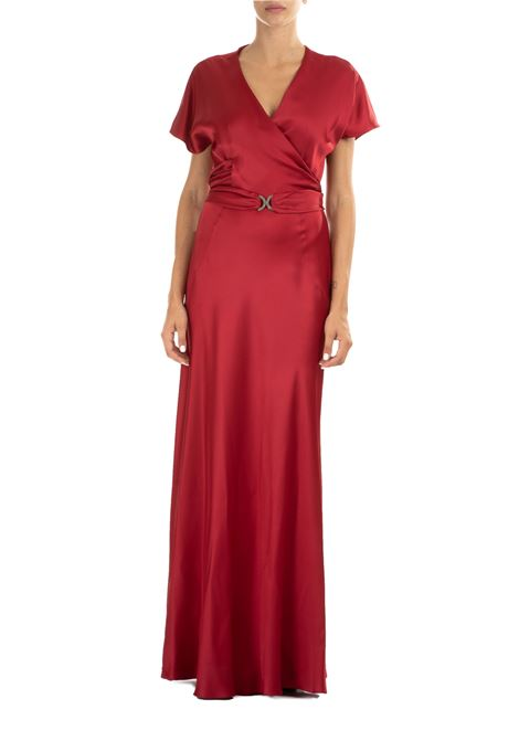 RED DRESS IN ENVER SATIN ALBERTA FERRETTI | Dress | 04476618116