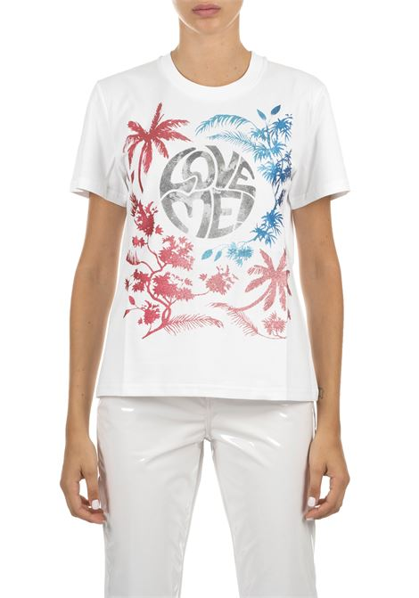 WHITE COTTON T-SHIRT ALBERTA FERRETTI | T-shirt | 070151601