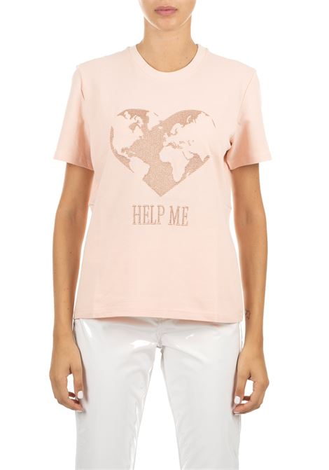 PINK T-SHIRT WITH EMBROIDERED FRONT PRINT ALBERTA FERRETTI | T-shirt | 07026661131