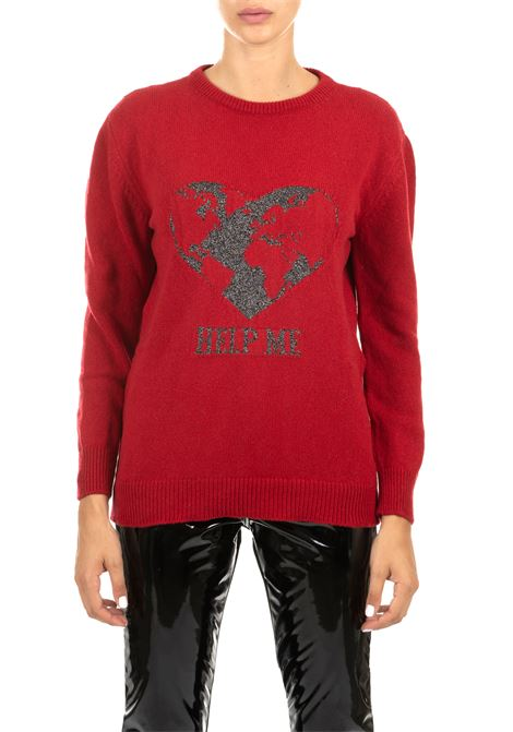 RED SWEATER WITH FRONTAL INLAY ALBERTA FERRETTI | Sweaters | 093466082117