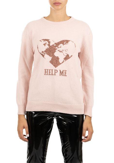 PINK JERSEY WITH FRONTAL INLAY ALBERTA FERRETTI   Sweaters   093466082169