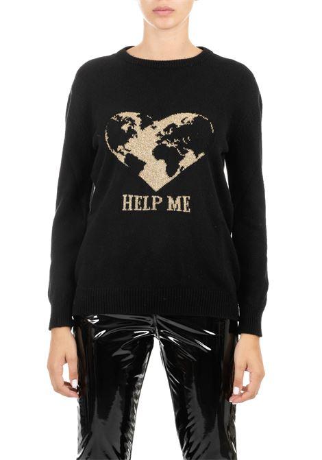 CASHMERE JERSEY WITH BLACK LOGO ALBERTA FERRETTI | Sweaters | 093466082555