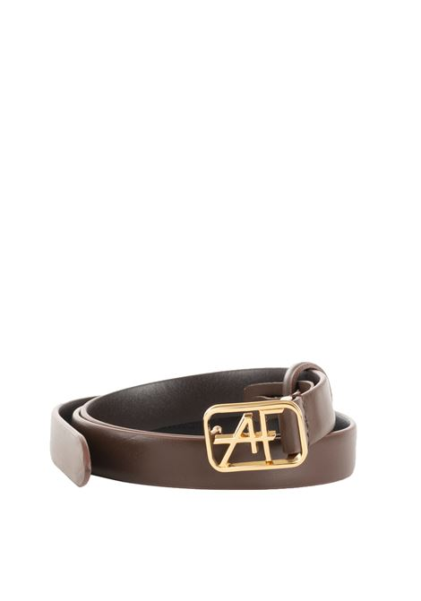 LEATHER BELT WITH LOGO ALBERTA FERRETTI | Belts | 300666951102