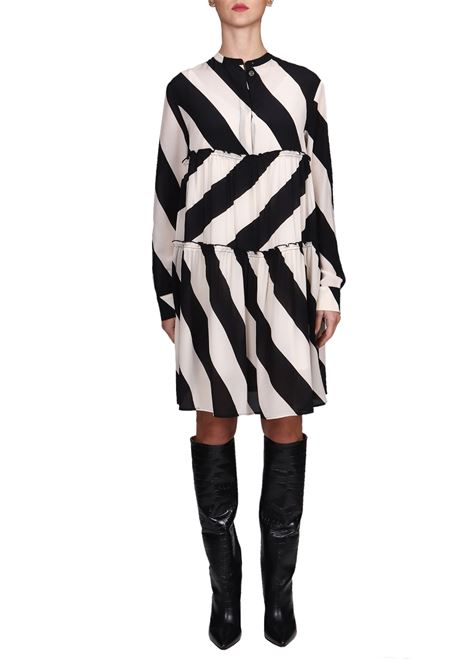 BLACK SILK FANTASY DRESS ALYSI | Dress | 159392A9201NE