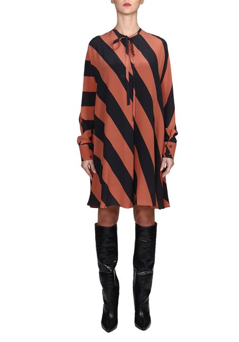 FANCY DRESS MACRO RIGA IN SILK ALYSI | Dress | 159394A9201FANTASIA
