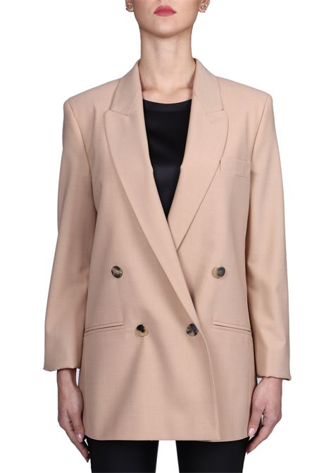 HONEY JACKET IN MIXED DOUBLE-BREASTED WOOL ALYSI | Jackets | 159829A9231MIELE
