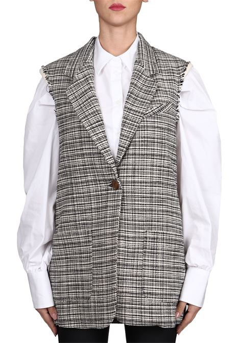 TWEED VEST POCKETS WITH BLACK PATCH IN WOOL MIXED ALYSI | Waistcoats | 159830A9251NERO