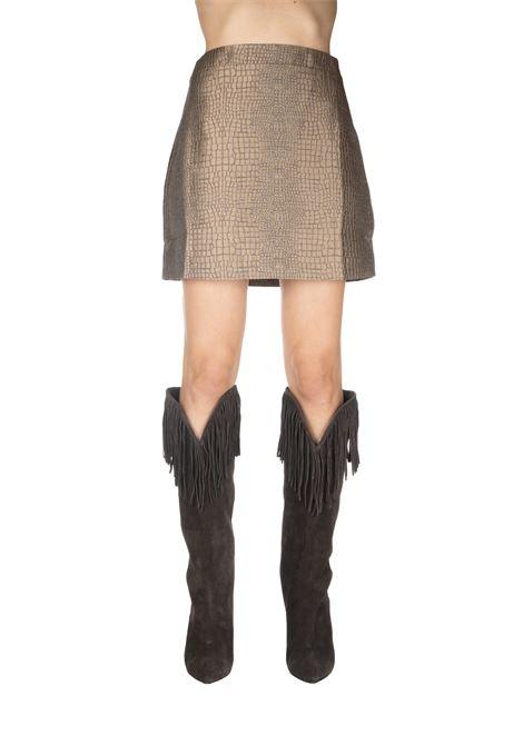 COCONUT BRONZE BERTHA MINI-SKIRT ANDAMANE | Skirts | BERTHAL91G575COCCO/BRONZO