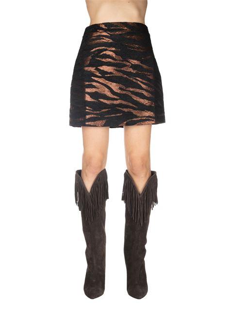 BRONZE AND BLACK TIGER BERTHA MINI-SKIRT ANDAMANE | Skirts | BERTHAL91G575MULTICOLOR