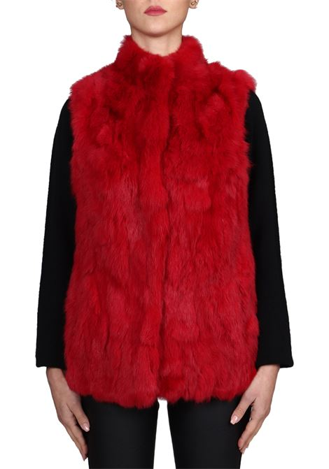 RED FUR MODEL SLEEVELESS BETTA CORRADI | Fur coat | B002008
