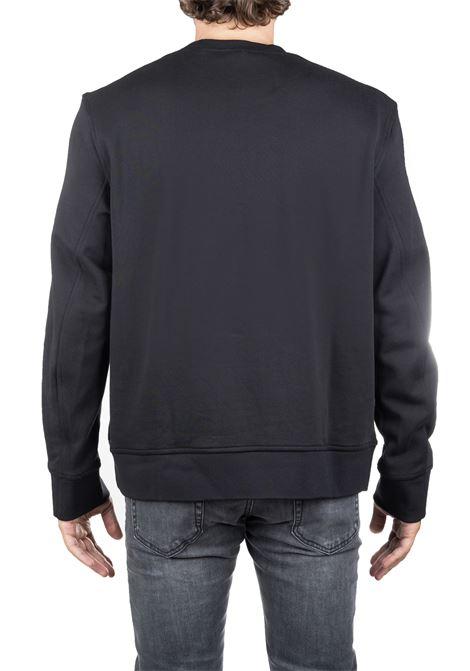 BLACK COTTON SWEATSHIRT WITH FRONT LOGO PRINT BOX BLACKBARRETT | Sweatshirts | PXJS8471133
