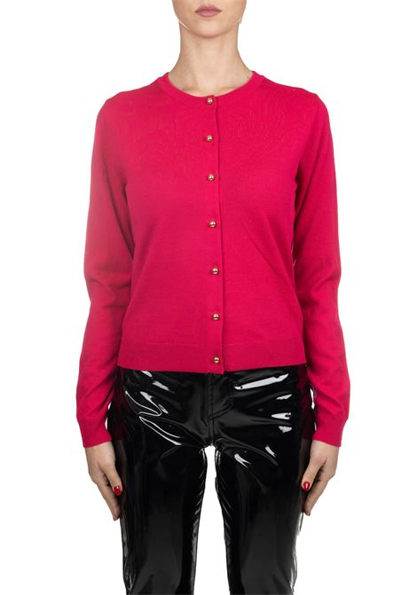 FUCSIA WOOL CARDIGAN BOUTIQUE MOSCHINO | Cardigans | 09355800A0213