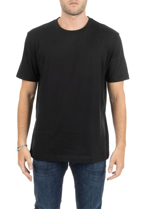 BLACK T-SHIRT WITH EMBROIDERED MINI LOGO CALVIN KLEIN | T-shirt | K10K103333002