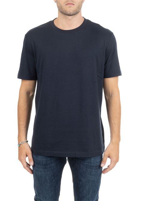 T-SHIRT BLU CON MINI LOGO RICAMATO CALVIN KLEIN | T-shirt | K10K103333407