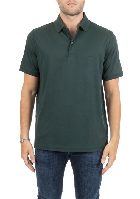 POLO SLIM IN COTONE VERDE MINI LOGO CALVIN KLEIN | Polo | K10K103378354