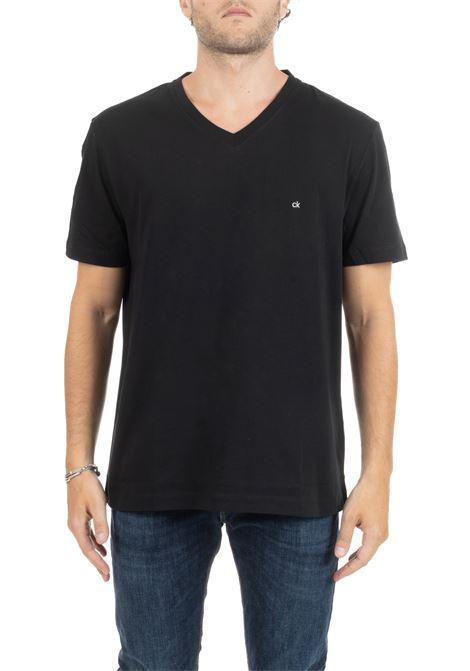 T-SHIRT NERA BASIC CON MINI LOGO CALVIN KLEIN | T-shirt | K10K103672002