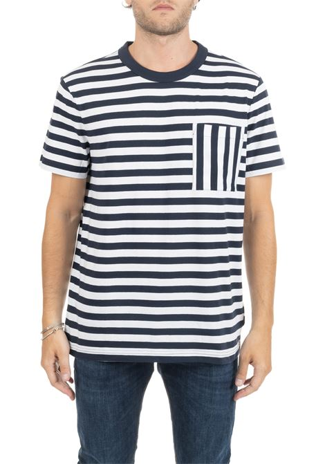 STRIPED T-SHIRT WITH FRONT POCKET CALVIN KLEIN | T-shirt | K10K103958407