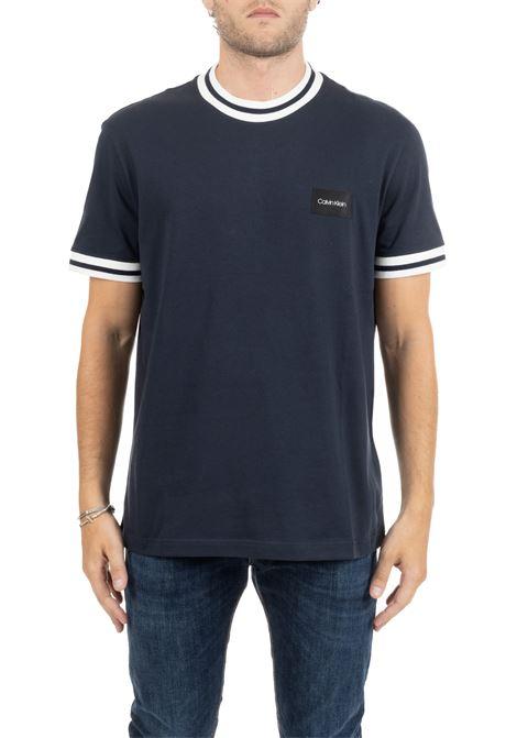 T-SHIRT BLU CON LOGO CALVIN KLEIN | T-shirt | K10K104041407