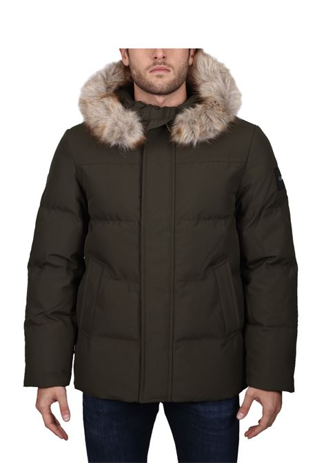 GREEN DOWN PADDED WITH ECO FUR CALVIN KLEIN | Jackets | K10K104430MRZ