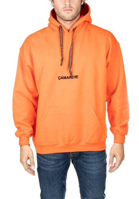 ORANGE COTTON SWEATSHIRT WITH EMBROIDERY FRONT BACK LOGO CAMARCHE | Sweatshirts | CW19UCSS03BR1OR04AARANCIO