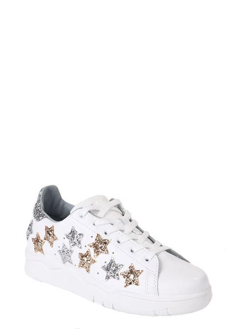 WHITE ROGER GLITTERATE STARS SNEAKERS CHIARA FERRAGNI | Sneakers | CF2071-ABIANCO
