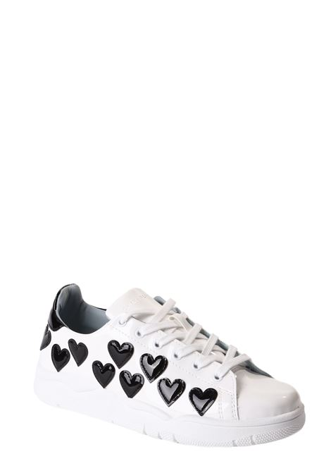 SNEAKERS WHITE ROGER APPLICATION HEART BLACKS CHIARA FERRAGNI | Sneakers | CF2523-001-ABIANCO