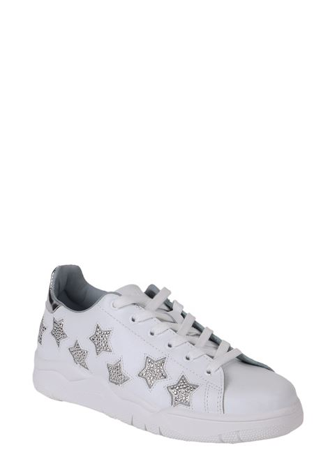WHITE ROGER SNEAKERS WITH STAR EMBROIDERY CHIARA FERRAGNI | Sneakers | CF2527-009-ABIANCO