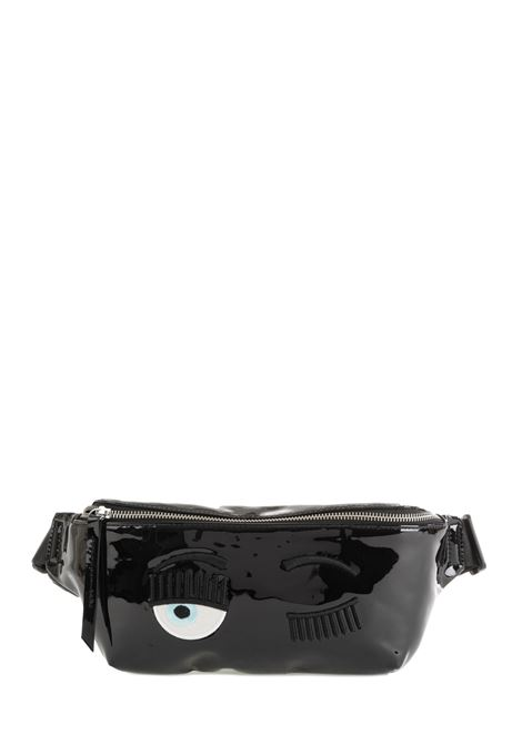 WAIST BAG IN VINYL WITH LOGO CHIARA FERRAGNI |  | CFBB009NERO