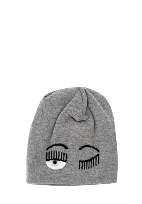 GREY FLIRTING HAT WITH LOGO CHIARA FERRAGNI | Hats | CFC030GRIGIO