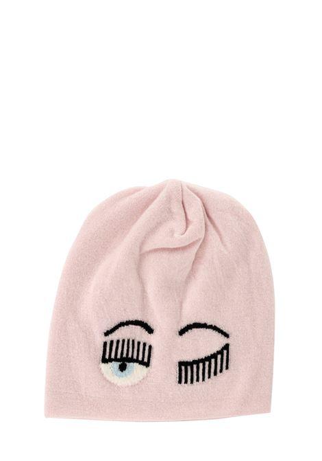 PINK FLIRTING HAT WITH LOGO CHIARA FERRAGNI | Hats | CFC030ROSA