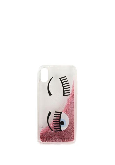 PINK IPHONE FLIRTING GLITTER LIQUID COVER X/XS CHIARA FERRAGNI | Case | CFCIPX038(X/XS)ROSA