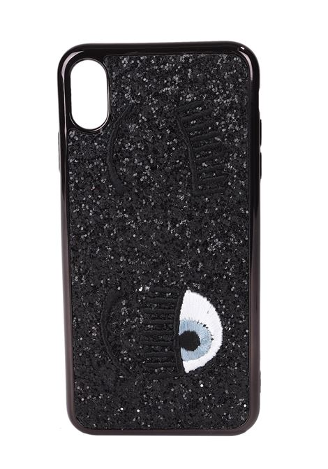 COVER IPHONE FLIRTING GLITTER NERO XR CHIARA FERRAGNI | Cover | CFCIPXR001NERO