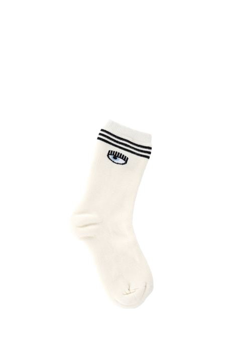 WHITE SOCKS WITH LOGO CHIARA FERRAGNI | Socks | CFCL001BIANCO