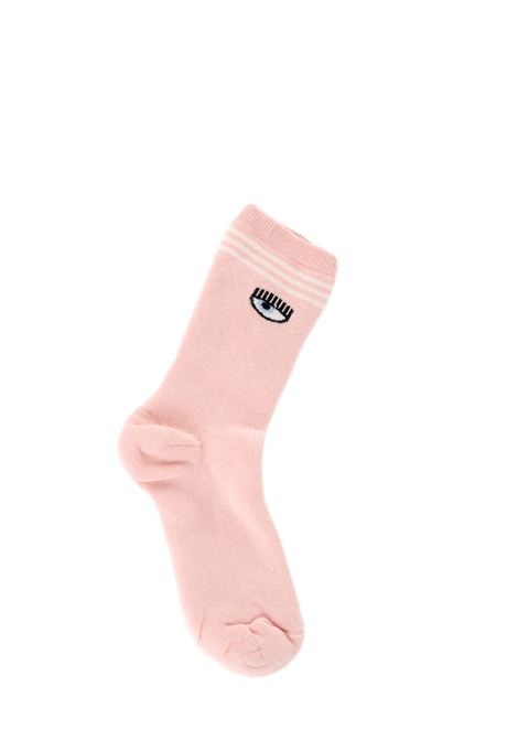 PINK SOCKS WITH LOGO CHIARA FERRAGNI | Socks | CFCL001ROSA
