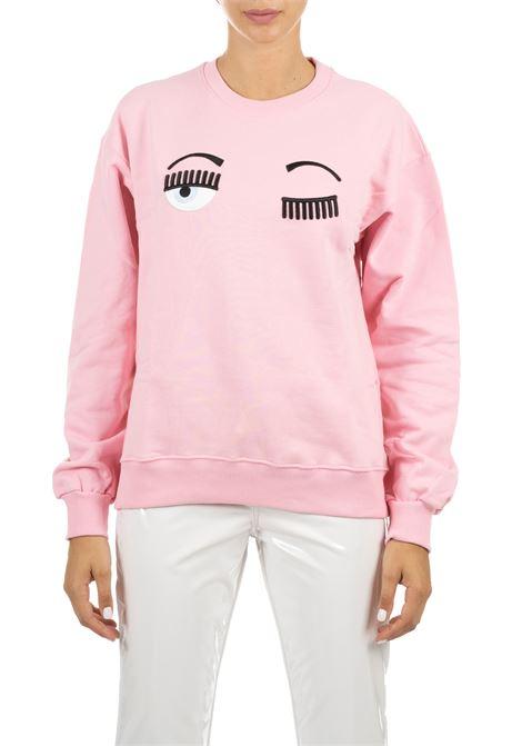 PINK SWEATSHIRT WITH FLIRTING LOGO CHIARA FERRAGNI | Sweatshirts | CFF082ROSA