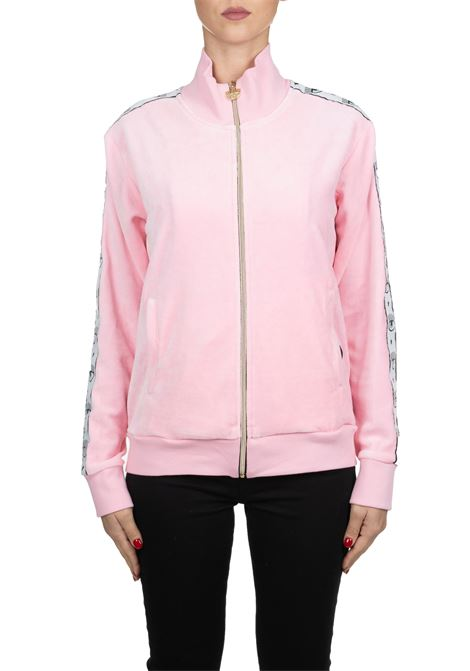 PINK COTTON SWEATSHIRT 80 S JACKET CHENILLE CF CHIARA FERRAGNI | Sweatshirts | CFF086ROSA