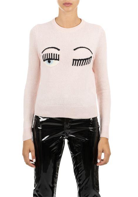ROSE SWEATER IN FINE MERINOS CHIARA FERRAGNI | Sweaters | CFJM018ROSA