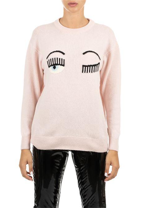 ROSE NECK IN FINE MERINOS CHIARA FERRAGNI | Sweaters | CFJM021ROSA